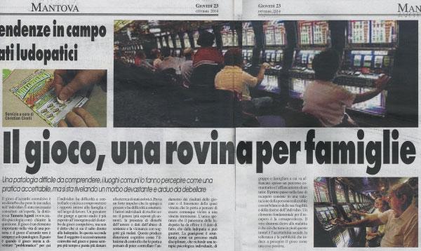 Gioco d'azzardo patologico La Voce di Mantova 23 ottobre 2014